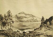 Robert Houston pencil signed antique etching 'Scotland'; 1920's