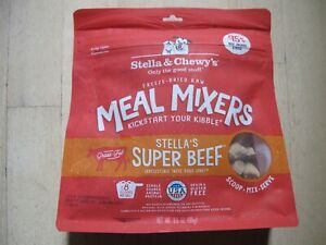 Stella & Chewy's Freeze-Dried Raw Super Beef Meal Mixers Grain-Free 3.5 Oz. 6-21