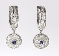 14k White Gold Dangling Earring with Diamond (Dia. 0.25cts)/CH