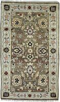 "Wool Brown Rug 5' X 8' Traditional Hand Knotted Oushak Oriental 4'6""X7'9"" Carpet"