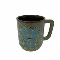 Vintage Mug Made in England MCM Coffee Cups Mugs Staffordshire? Green & Blue