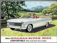 Hillman Super Minx Convertible Series II 1962-64 UK Market Foldout Brochure