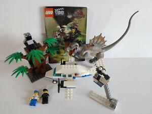 Rare Retired Lego Studios Jurassic Park III set 1371 Complete Spinosaurus Attack