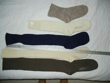 Long wool knee-high knicker or cross country ski socks 4 pair