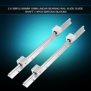 SBR12-500mm 12mm Support Linear Bearing Rail Slide Guide Use In Robot Calculator
