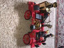 Wilesco D 305 Live Steam Engine Firetruck Fire Truck. Including 3 firefighters.