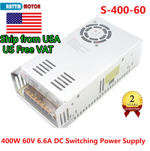 【US】400W 60V DC 6.6A Switching Power Supply Transformer Single Output CNC Router