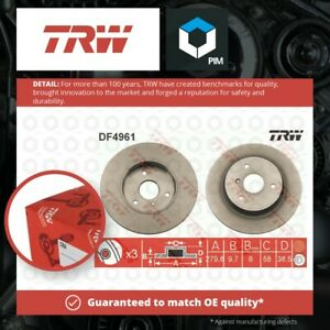 2x Brake Discs Pair Solid fits SMART CABRIO 0.6 Front 00 to 04 280mm Set TRW New
