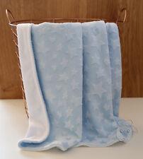*Special* Star Blue Minky Baby Blanket Stroller Pram Crib Shower Gift