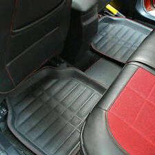 5X Car Floor Mat Black Front&Rear Leather Carpet All Weather for Car SUVs Trucks