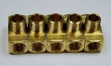 """Brass Fittings: Branch Tee Extruded, Female Pipe 3/8"""", Male Pipe 3/8"""", QTY. 5"""