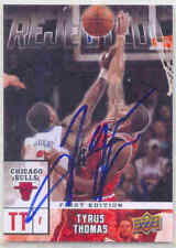 TYRUS THOMAS CHICAGO BULLS SIGNED UD REJECTED! CARD CHARLOTTE BOBCATS LSU TIGERS