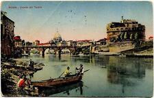 1918 Roma - Veduta del Tevere, barca - FP COL VG ANIM