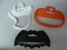 Lot of 3 Wilton Halloween Cookie Cutters Bat Ghost Pumpkin
