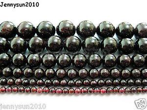 Natural Dark Red Garnet Gemstone Round Beads 15'' 2mm 3mm 4mm 6mm 8mm 10mm 12mm