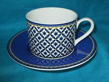 Victoria Beale WILLIAMSBURG Flat Cup & Saucer  BLUE STARBURST^
