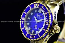 INVICTA Mens 47mm Grand Diver Gen 2 Automatic Gold/Blue Dial 300M SS Watch
