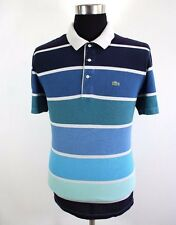 Mens LACOSTE Polo shirt, size 6 L, very nice pattern, top quality cotton BL1824