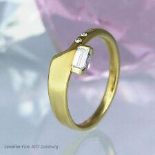 Anello in 750/- Giallo con 4 diamanti ca 0,25 ct Wesselton/vvsi