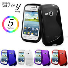 NEW S CURVE GEL CASE COVER FOR SAMSUNG Galaxy Young S6310 + Screen Protector