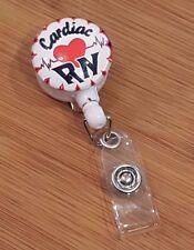 ID Badge Holder Key Tag Clip Retractable Reel Lanyard Cardiac RN Nurse Medical