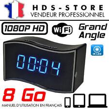 RÉVEIL CAMÉRA ESPION IP WIFI RVLIP6 FULL HD 1080P + MICRO SD 8 GO INFRAROUGE