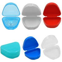 Dental Orthodontic Retainer Box Case Denture Sport Teeth Mouth Guard Storage BY