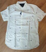 Tommy Hilfiger Herren Hemd, Original Neu mit Etikett Slim Fit Größe: Large