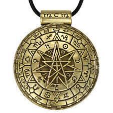 Large Bronze Alchemy Pentacle Septagram Pendant Pagan Wicca Oberon Zell Necklace