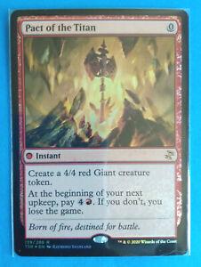 Magic MTG Card PACT OF THE TITAN Foil Time Spiral Remastered Rara Rare ENG Mint