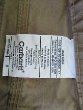 Carhartt Womens Sz 8 Cargo Canvas Shorts WB164 Khaki~Free Shipping~
