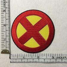 XMEN Iron on Patch Comics X-MEN MARVEL COMICS MOVIE LOGO HALLOWEEN COSTIME RED