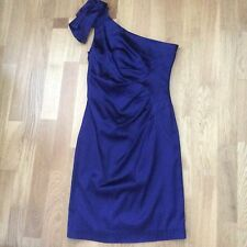 c852cc962dc9 BELLE by OASIS DRESS, DARK BLUE/PURPLE SATIN, OFF SHOULDER, UK 10