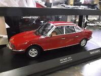 NSU Autounion Audi RO80 Ro 80 Wankel Limousine 1972 rot red Minichamps 1:18