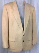 Vintage Baskin Mens 44R Solid Beige 100% Camel Hair Blazer Sports Jacket USA