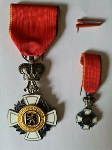 Ehrenzeichen Verdienstorden Belgien Brabant Ritter mit Mini