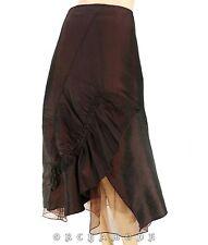 Jupe sous genoux CAMAIEU T 38 M 2 Satin violet Soirée Fête Skirt Rock falda TBE
