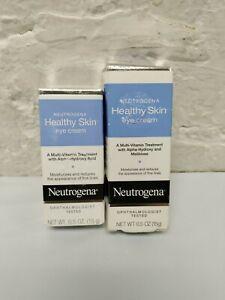 (2 PACK) Neutrogena HEALTHY SKIN multi-vitamin EYE CREAM .5oz Alpha-Hydroxy Acid