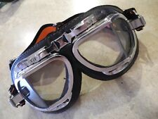 Vintage Motorcycle Goggles  Halcyon safety lenses; Solex, Vespa, scooter