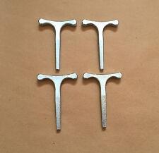 """4 x petites clés T 3,5 """"utilisé avec budget serrures horseboxes bus autocars remorque"""