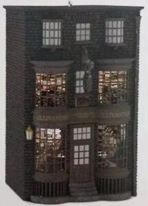 Harry Potter Ollivander's Wand Shop 2016 Hallmark  Ornament Hogwarts Crease Box