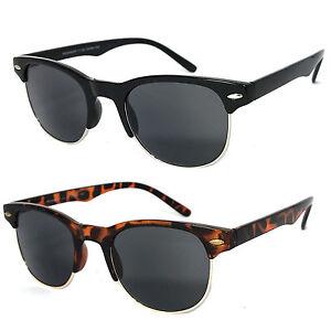 1 or 2 Pair(s) Horned Rim Semi Rimless Sun Readers Reading Sunglasses