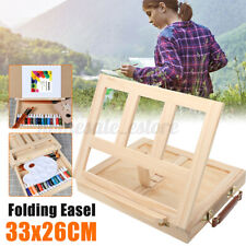 Portable Wooden Drawers Artist Table Top Easel Stand Sketch Box Painting