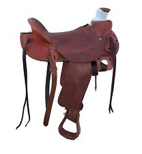 """15"""" WADE LIGHTWEIGHT RANCH ROPING COWBOY SADDLE, WEIGHS LESS THAN 25 LBS"""