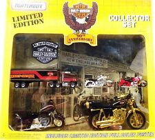 1992 Matchbox Harley Davidson 90th Anniversary Collector Set with Patch Hogs