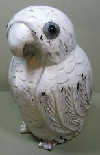 19th Century Hand Carved Snowy Owl, Glass Eyes