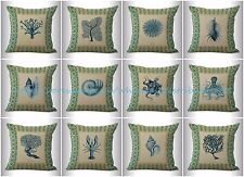 US SELLER-10pcs patio cushion cushion covers vintage octopus coral shells