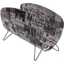 Polypropylen-Zeitungsständer mit Zeitungsdekor auf Metallfüßen ca. 46 x 31 cm