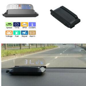 Car HUD Head Up Display Over Speed Safe Warning OBD2 Speedometer Projector