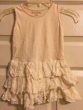 Mustard Pie Lace Ivory Sleeveless Dress Size 24M